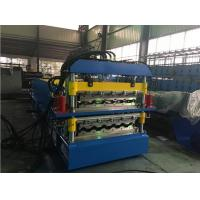 Wholesale 2 Layer Glazed Tile Roll Forming Machine With 5 Ton Manual Decoiler from china suppliers