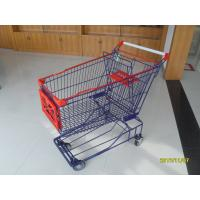 Wholesale Commercial 150L Wire Mesh Shopping Cart With 5 Inch TPE Caster from china suppliers