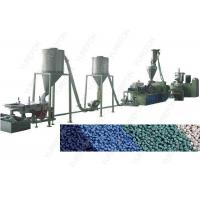 Wholesale 3 - 4 MM Plastic Flakes Recycling Machine , PVC Plastic Granules Making Machine from china suppliers