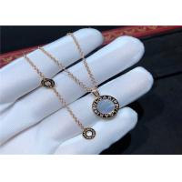 Wholesale 18K Gold Diamond Necklace Simple Design For Girlfriend / Wife from china suppliers