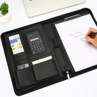 Wholesale A4 Size Personalized Leather Padfolio Feel Comfortable With Pockets Clipboard Folder from china suppliers