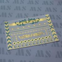 Wholesale Gold and turquoise TATTOO, Metallic temporary tattoo from china suppliers