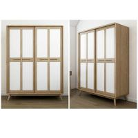 American StyleHotel Room Wardrobe Sliding Door With Glass Door / Wooden Door