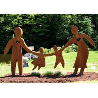 Buy cheap Garden Art Decor Corten Steel Sculpture Family Parents and Children Playing from wholesalers