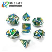 China 3 COLORS MIXED ENAMEL METAL DICE for sale