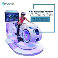 Wholesale 700KW white color multiplayer eye-catch appearance  Car Driving Vr Simulator Motorcycle Racing For Game Zone from china suppliers
