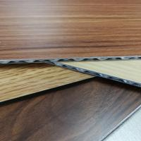 Wholesale 3-6mm Aluminum Core Panel Wood Grain Fireproof Interior Exterior Decoration from china suppliers