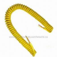 China Coiled Cords with Extension Retractable Coiled Electrical Power Cable on sale