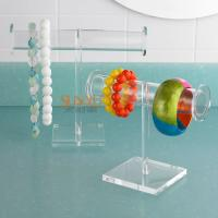 Wholesale T Bar Jewellery Display Stands Acrylic Bracelet Necklace HolderCrystal Glass  Big Round Tube from china suppliers