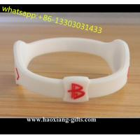 Cheap Custom Silicone Bracelet with Debossed/Embossed/Color Filled/Printed Logo for sale