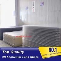 Wholesale 3D Lenticular Sheet materials 70LPI PET 0.9MM 60X80CM for 3d lenticular printing by injekt print and UV offset print from china suppliers