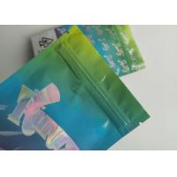 China Hologram Weed Stand Up Zipper Pouch Smell Proof Runtz Bag With Clearly Window on sale