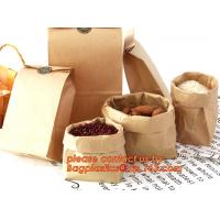 Wholesale 70g food grade brown kraft paper bag with customized logo printing, Pinch Bottom Paper Bag, Greaseproof Paper Bag with L from china suppliers