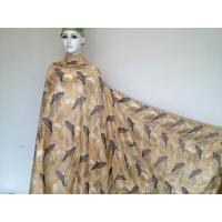 Wholesale 100% Swiss Cotton Lace Printed Leaves , Glod Yellow Heavy Lace Fabric from china suppliers