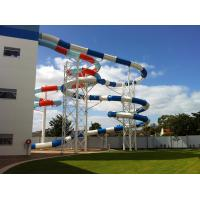 Wholesale Customized Adult / Kids Fiberglass Water Slides 15 - 20 M Platform Height from china suppliers
