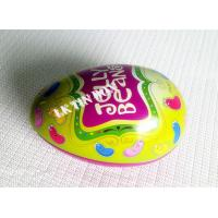 Wholesale Egg Shaped Jelly Bean Tin Can For Easter Holiday , Decorative Tin Boxes from china suppliers