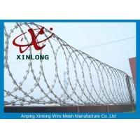 China Security Fencing Cross Razor Barbed Wire / Stainless Steel Razor Combat Wire on sale
