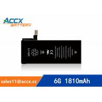 Wholesale ACCX brand new high quality li-polymer internal mobile phone battery for IPhone 6G with high capacity of 1810mAh 3.8V from china suppliers