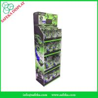 Quality 4 tiers innovative pop displays merchandising retail floor corrugated displays for sale