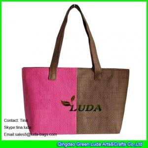 China LUDA unique handbags summer beach paper straw ladies handbag on sale