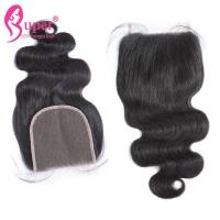 Quality Middle Part Virgin Hair Closures 5x5 Natural Hair Brazilian Body Wave Swiss Lace for sale