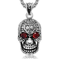 Wholesale Men's Necklace Vintage Old Stainless Steel Skull Pendant Necklace(SP407) from china suppliers