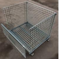 China Custom Size Stacking Pallet Racks , Industrial Wire Containers For Bulk Materials Handling on sale