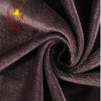 Buy cheap grey 3mm super soft velboa plush fabric/short pile plush fabric for blanket from wholesalers