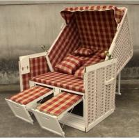 Wholesale Contemporary Leisure Wood And Resin Wicker Roofed Beach Chair & Strandkorb from china suppliers
