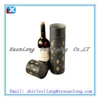 Wholesale Wine Packaging Paper Tube with Metal Lid from china suppliers