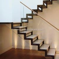 Wholesale Modern Design Zig Zag Staircase Beam Double Stringer Straight Staircase from china suppliers