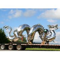 Wholesale Traditional Chinese Large Dragon Sculpture , Metal Dragon Garden Sculpture from china suppliers