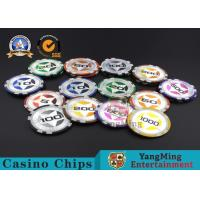 Wholesale ABS Casino RFID chips 12g Clay Poker Chips With Ultimate Sticker , 40mm Diameter from china suppliers