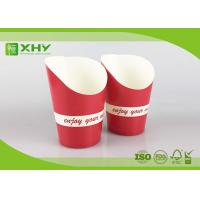 Red Color Printed 9oz French Fries Chip Paper Cups with FDA Certificated