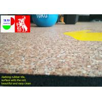 Wholesale Fitness Center Interlocking Rubber Floor Tiles , Industrial Rubber Matting Roll from china suppliers
