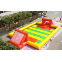 Wholesale Amazing Sport Game Inflatable Football Field , Colorful PVC Inflatable Football Game Field from china suppliers