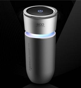 Intelligent Design Automobile Ionizer Air PurifierCup Shape Key Touch Control
