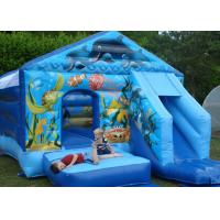 Wholesale Commercial Clean Soft Blue Seaworld Bouncer Slide Inflatable Combo For Kids from china suppliers