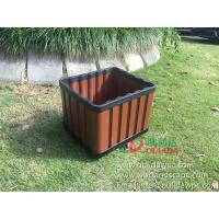 Buy cheap WPC outdoor flowerpot OLDA-7013 rectangle planter 415x365x340mm from wholesalers