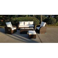Wholesale KD Furniture Rattan Outdoor Sofa Set Adjustable Back Rest Single Sofa from china suppliers