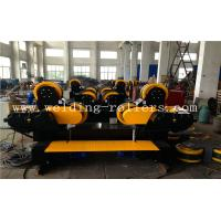 Buy cheap Travelling Self Aligning Pipe Welding Rotator , Rubber Combine Steel Wheel Load Capacity 30T from wholesalers