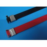 Buy cheap Polyester Coated Metal Wire Cable Ties , Electrical Tie Wraps For Petrochemical from wholesalers