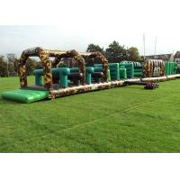 Wholesale Camouflage Giant Army inflatable children's assault course , assault course ideas from china suppliers