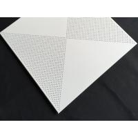 Aluminum / Galvanized Steel 3.0mm Perforated Metal Ceiling With Beveled Edge for sale