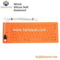 Wholesale 83 Keys Mini Wired Silicon Keyboard Flexible Waterproof for Tablet/ PC/ Laptop/ Smartphone from china suppliers