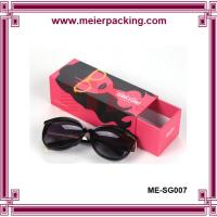 Wholesale Paper pull out box, paper drawer sliding sunglass box, printed red box ME-SG007 from china suppliers