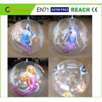 Quality Clear PVC Inflatable Beach Ball Easy Carrying Light Weight For Pool Toys for sale
