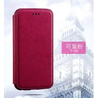 Wholesale Pink Iphone 6 Plus Leather Wallet Case , Book Cover Protective Magnetic Leather Case from china suppliers