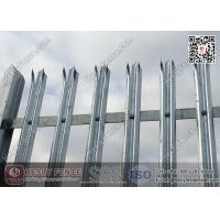 galvanised steel palisade with W section pale