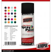 Colorful with fast dry all purpose spray paint Acrylic Resin AEROPAK painting for sale